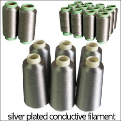 Silver Plated Conductive Fiber Yarn,silver Coated