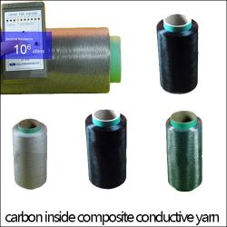 Conductive Yarn,composite Carbon-inside Conductive