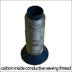 Carbon-inside Conductive Embroidery Thread,anti St