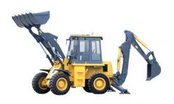88hp  1m3 Backhoe Loader Wz30-25