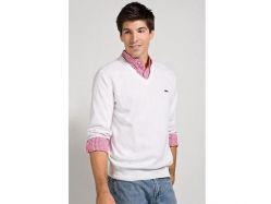 Round Neck Sweater Lacoste Sweatshirts
