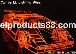 Cool El Glow Wire Racing Car Decoration El Hnr0019