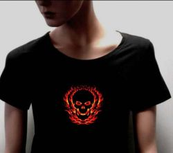 El Sound Activated T-shirt,fashion Electronic T-sh