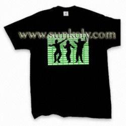 Sound Activated El T-shirt ,el Clothing Led Shirt