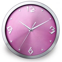 Aluminium Wall Clock  No.a08