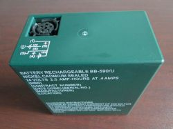 Nickel Cadmium Military Battery Bb-590/u