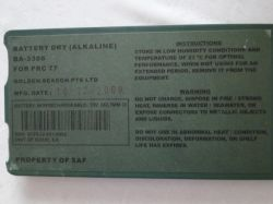 Non-rechargeable Alkaline Military Battery Ba-3386