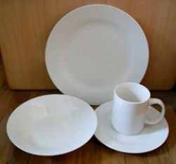 16pcs White Porcelain Dinner Set