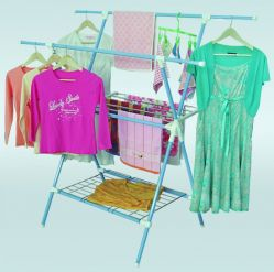Steel And Power Coated Clothes Rack
