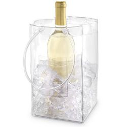 Clear Pvc Wine Bottle Bag