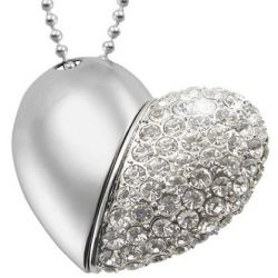 Bling Heart Usb Flash Drive With Best Offer