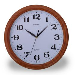 Wood Imitation Color Clock 37cm