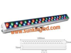 36w Led Wall Washer Light+rgb+dmx512