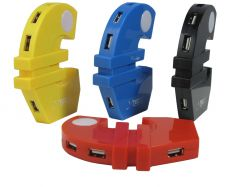 Euro Shape 4 Port Usb Hub 2.0