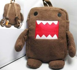 Domo Kun Plush School Backpack Lunch Shoulder Big