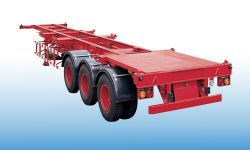 2*20ft Or 1*40 Ft Skeleton Container Semi Trailer