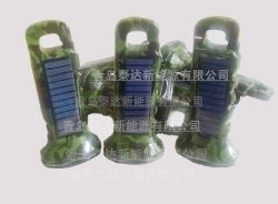 6led Waterproof Camouflage Solar Torch/flishlight