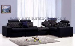 Contemporary Leisure Fabric Sofa, Upholstered Seat