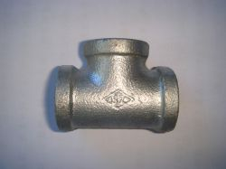 Banded Galvanized Malleable Iron Pipe Fitting Tee