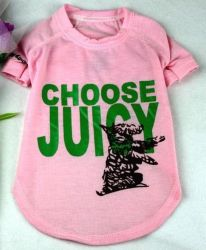 Juicy Pet Clothes,juicy Dog T-shirts,paypal Accept
