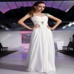 Half-sleeve Jewel Pink Taffeta Short Evening Dress