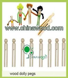 Wood Dolly Pegs