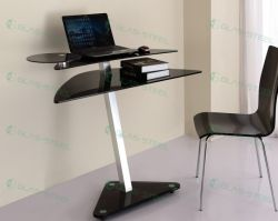 Office Glass Furniture-office Glass Computer Desk