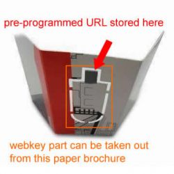 Usb Flyer Paper Web Key With Url Pharma Drive Ad