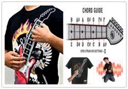 Playable Electric Guitar T Shirt El Guitar T-shirt