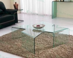 Home Glass Furniture - Living Room Coffee Table