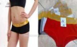 Women Cotton Gold Edge Short Underwear