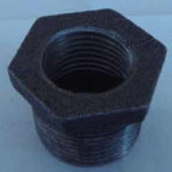 Black Malleable Iron Pipe Fitting Bushing