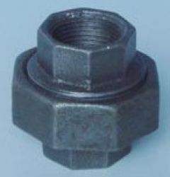 Black Malleable Iron Pipe Fitting Union Npt Thread