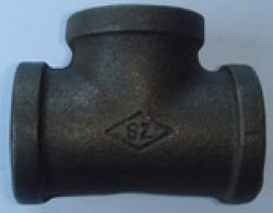 Black Malleable Iron Pipe Fitting Tee