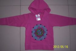 Girls 100% Cotton Fleece Hoody T-shirt