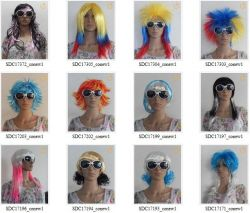 2012 New Fashion Holiday Wigs Different Colors