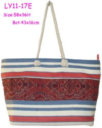 Printed Cloth And Paper Beach Bag,bohemian Style