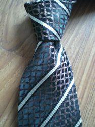 Dark Blue And White Necktie (6822)