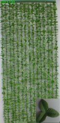 Bamboo W/leaves Door Curtains(qy)