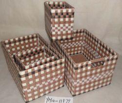 Coloured Pp/pvc Storage/basket
