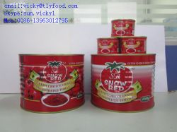 Double Concentrated Tomato Paste With Brix 28%-30%