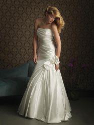 Beaded Embroidery Dress,strapless  Wedding Dress
