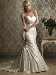 2012 Wholesale Beading Satin  Wedding Gowns