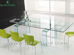 Home Glass Furniture  - Modern Glass Dining Table