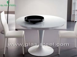 Home Glass Furniture - Extra White Dining Table