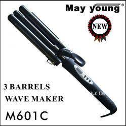 Lcd 3 Barrel Triple Wave Hair Curling Iron M601c