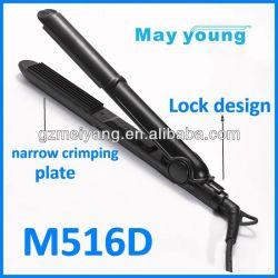 Narrow Crimping Plate Hair Iron Styler M516d