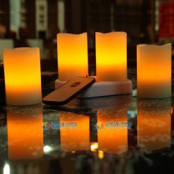 Rc Rechargeable  Led Wax Candles  Set Of 4pcs