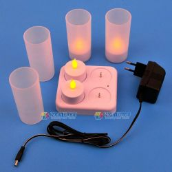4pcs  Led Rechargeable Candle
