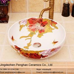 Factory Direct Famille Rose Ceramic Art Sink